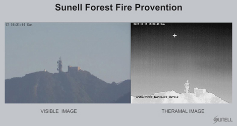 Sunell Thermal PTZ Forest Fire Prevention